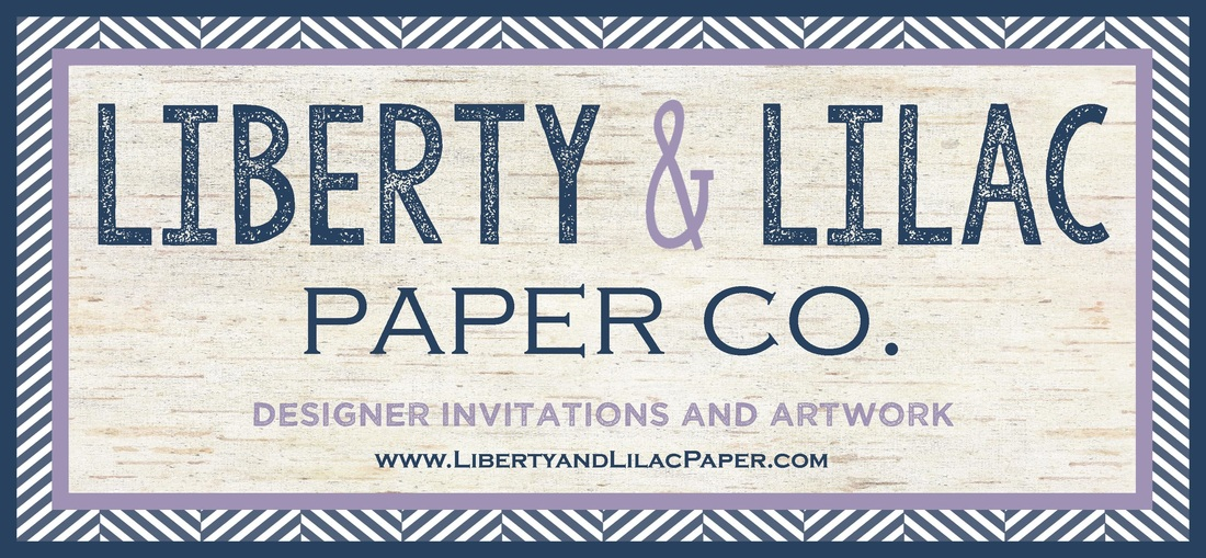 Liberty and Lilac Paper Company - Custom Invitations - Custom Artwork